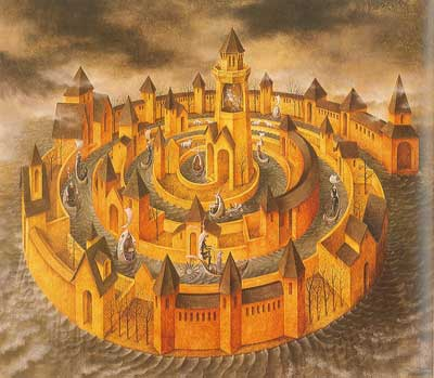 Remedios Varo, Spiral Transit Fine Art Reproduction Oil Painting