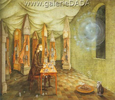 Remedios Varo, The Clockmaker Fine Art Reproduction Oil Painting