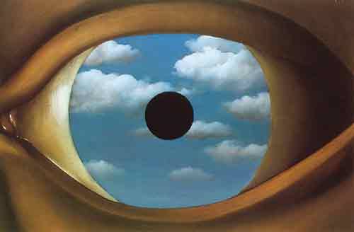 Rene Magritte, The False Mirror Fine Art Reproduction Oil Painting