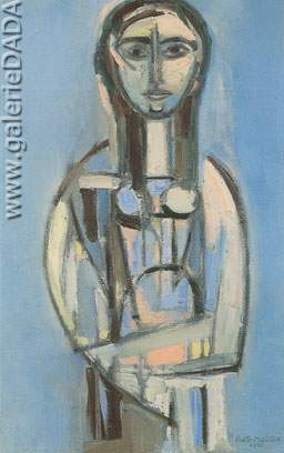 Rene Portocarrero, Figura en Azul Fine Art Reproduction Oil Painting