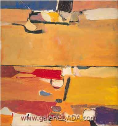Richard Diebenkorn, A Day at the Races Fine Art Reproduction Oil Painting