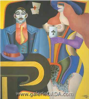 Richard Lindner, Ace of Clubs Fine Art Reproduction Oil Painting