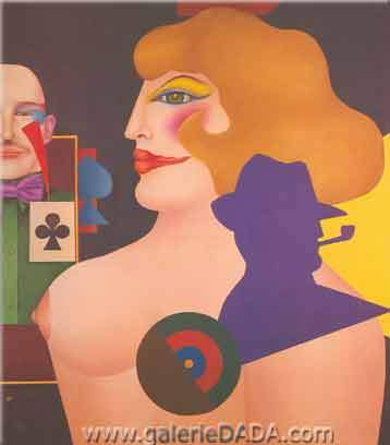 Richard Lindner, Circus Circus Fine Art Reproduction Oil Painting