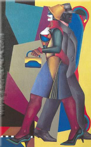 Richard Lindner, Moon over Alabama Fine Art Reproduction Oil Painting
