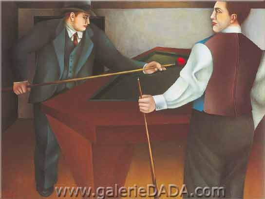 Richard Lindner, The Billiard Fine Art Reproduction Oil Painting