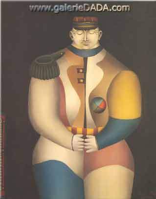 Richard Lindner, The Juggler Fine Art Reproduction Oil Painting