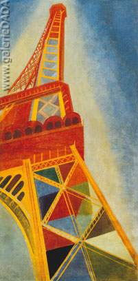 Robert & Sonia Delaunay, Eiffel Tower Fine Art Reproduction Oil Painting