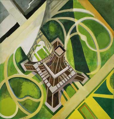 Robert & Sonia Delaunay, Eiffel Tower and Gardens Fine Art Reproduction Oil Painting