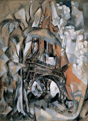 Robert & Sonia Delaunay, Eiffel Tower with Trees Fine Art Reproduction Oil Painting