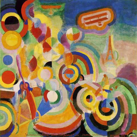 Robert & Sonia Delaunay, Homage to Bleriot Fine Art Reproduction Oil Painting
