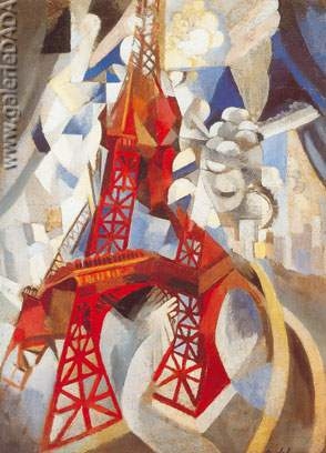 Robert & Sonia Delaunay, The Red Tower Fine Art Reproduction Oil Painting