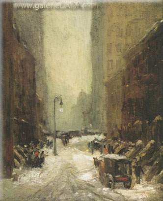 Robert Henri, Snow in New York Fine Art Reproduction Oil Painting
