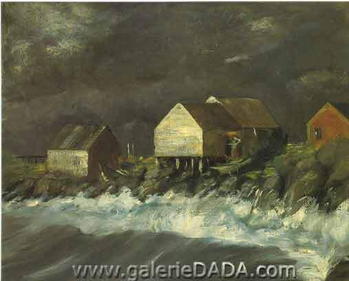Robert Henri, Storm Tide Fine Art Reproduction Oil Painting