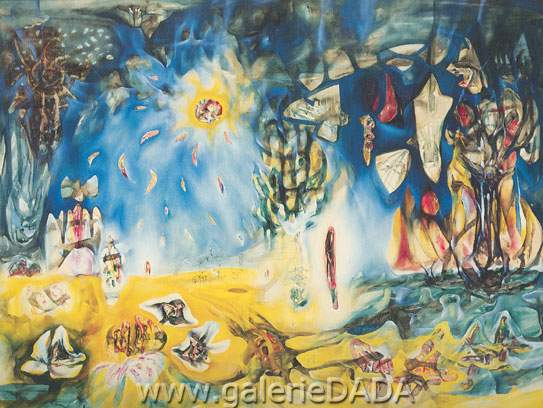 Roberto Matta, Earth is a Man Fine Art Reproduction Oil Painting