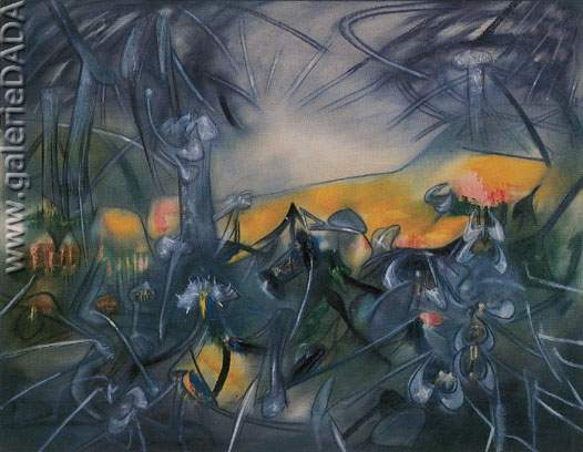Roberto Matta, Green I Want You Green Fine Art Reproduction Oil Painting