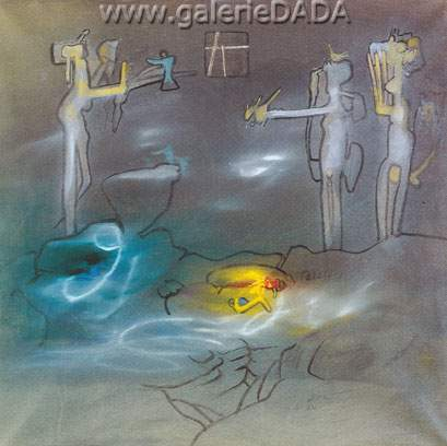 Roberto Matta, Untitled Fine Art Reproduction Oil Painting