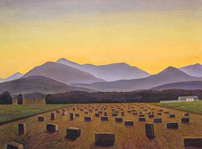 Rockwell Kent, Hay Bales, Evening, Below Whiteface Fine Art Reproduction Oil Painting