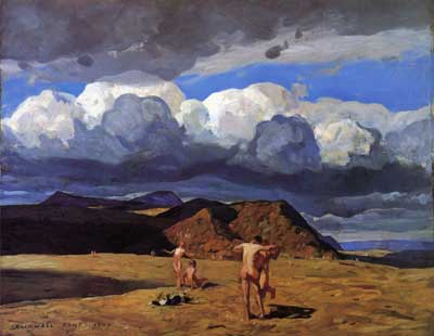 Rockwell Kent, Men and Mountains Fine Art Reproduction Oil Painting