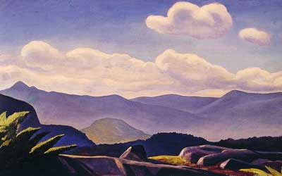 Rockwell Kent, Mountain Landscape Fine Art Reproduction Oil Painting
