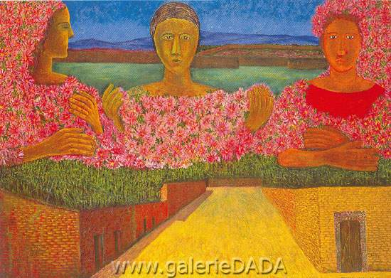 Rodolfo Morales, Flores para la Maestra Fine Art Reproduction Oil Painting