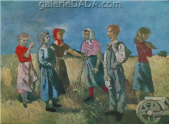 Roland Oudot, Haymakers Fine Art Reproduction Oil Painting