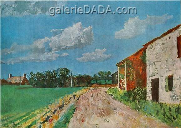Roland Oudot, Normandy Village Fine Art Reproduction Oil Painting