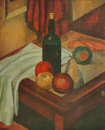 Roland Oudot, Still Life with a Bottle Fine Art Reproduction Oil Painting