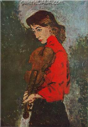 Roland Oudot, The Violinist Fine Art Reproduction Oil Painting