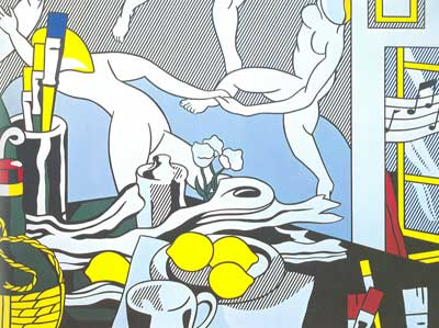 Roy Lichtenstein, Artists Studio,the Dance Fine Art Reproduction Oil Painting