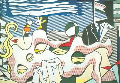 Roy Lichtenstein, Reclining Nude Fine Art Reproduction Oil Painting