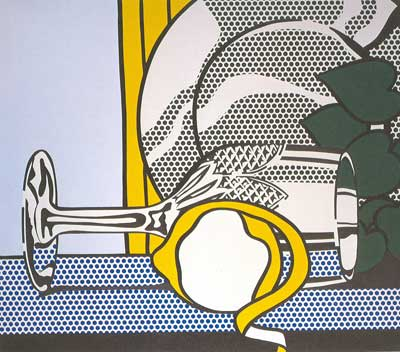Roy Lichtenstein, Still Life with Glass and Peeled Lemon Fine Art Reproduction Oil Painting