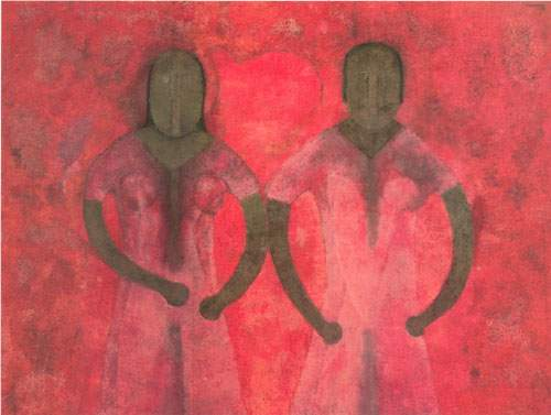 Rufino Tamayo, Dos Mujeres en Rojos Fine Art Reproduction Oil Painting