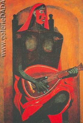 Rufino Tamayo, Red Mask Fine Art Reproduction Oil Painting