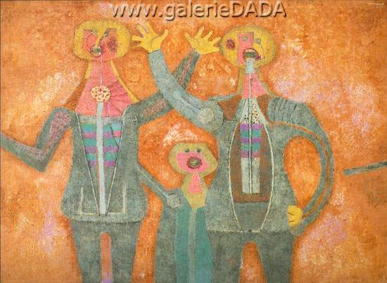 Rufino Tamayo, Three Personages Singing Fine Art Reproduction Oil Painting