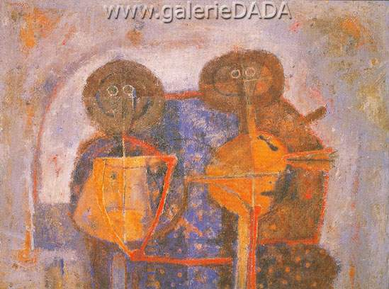 Rufino Tamayo, Two Personages Fine Art Reproduction Oil Painting