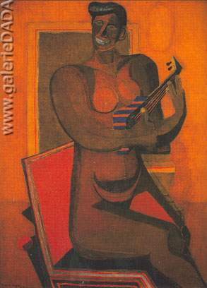 Rufino Tamayo, Woman with Guitar Fine Art Reproduction Oil Painting