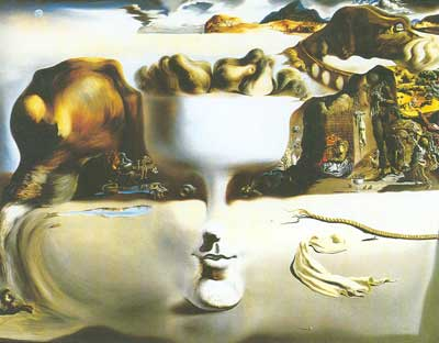 Salvador Dali, Apparition of Face and Fruit Dish on a Beach Fine Art Reproduction Oil Painting