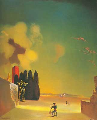 Salvador Dali, Enigmatic Elements in a Landscape Fine Art Reproduction Oil Painting