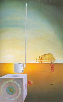 Salvador Dali, Giant Flying Mocha Cup Fine Art Reproduction Oil Painting