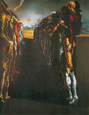 Salvador Dali, Palladios Thalia Corridor Fine Art Reproduction Oil Painting