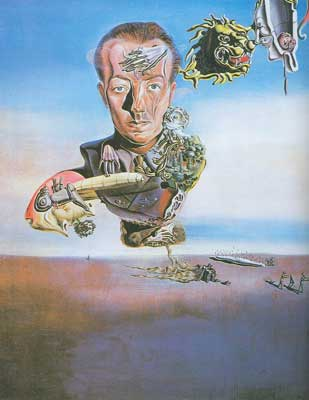Salvador Dali, Portrait of Paul Eluard Fine Art Reproduction Oil Painting