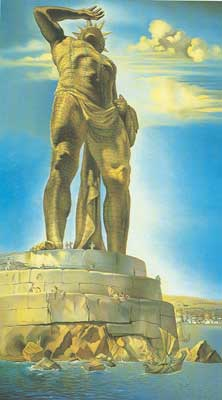 Salvador Dali, The Colossus of Rhodes Fine Art Reproduction Oil Painting