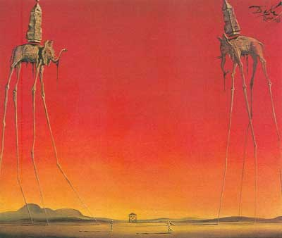 Salvador Dali, The Elephants Fine Art Reproduction Oil Painting