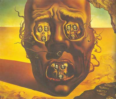 Salvador Dali, The Face of War Fine Art Reproduction Oil Painting