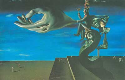 Salvador Dali, The Hand - Remorse Fine Art Reproduction Oil Painting