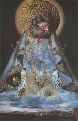 Salvador Dali, The Virgin of Guadalupe Fine Art Reproduction Oil Painting