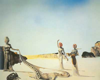 Salvador Dali, Three Young Surrealist Women Fine Art Reproduction Oil Painting