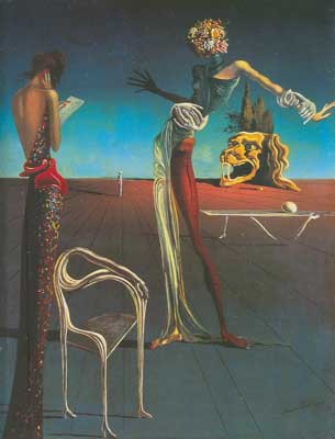 Salvador Dali, Woman with the Head of Roses Fine Art Reproduction Oil Painting