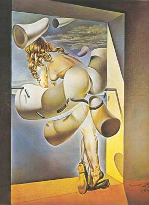Salvador Dali, Young Virgin Auto-Sodomized by her Own Chastity Fine Art Reproduction Oil Painting