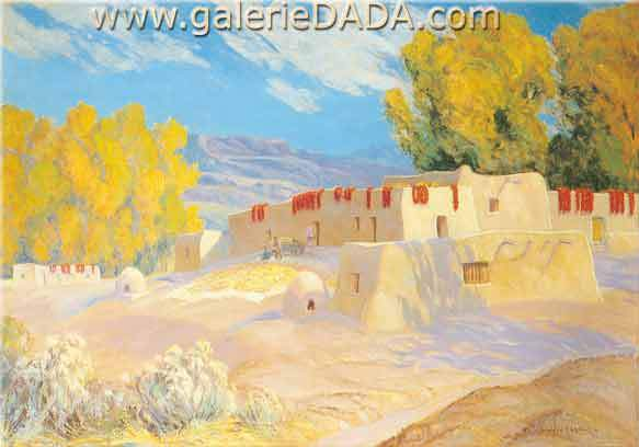 Sheldon Parsons, October in New Mexico Fine Art Reproduction Oil Painting